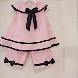 two-piece-girls-24-month-pink-top-and-pants-bows-